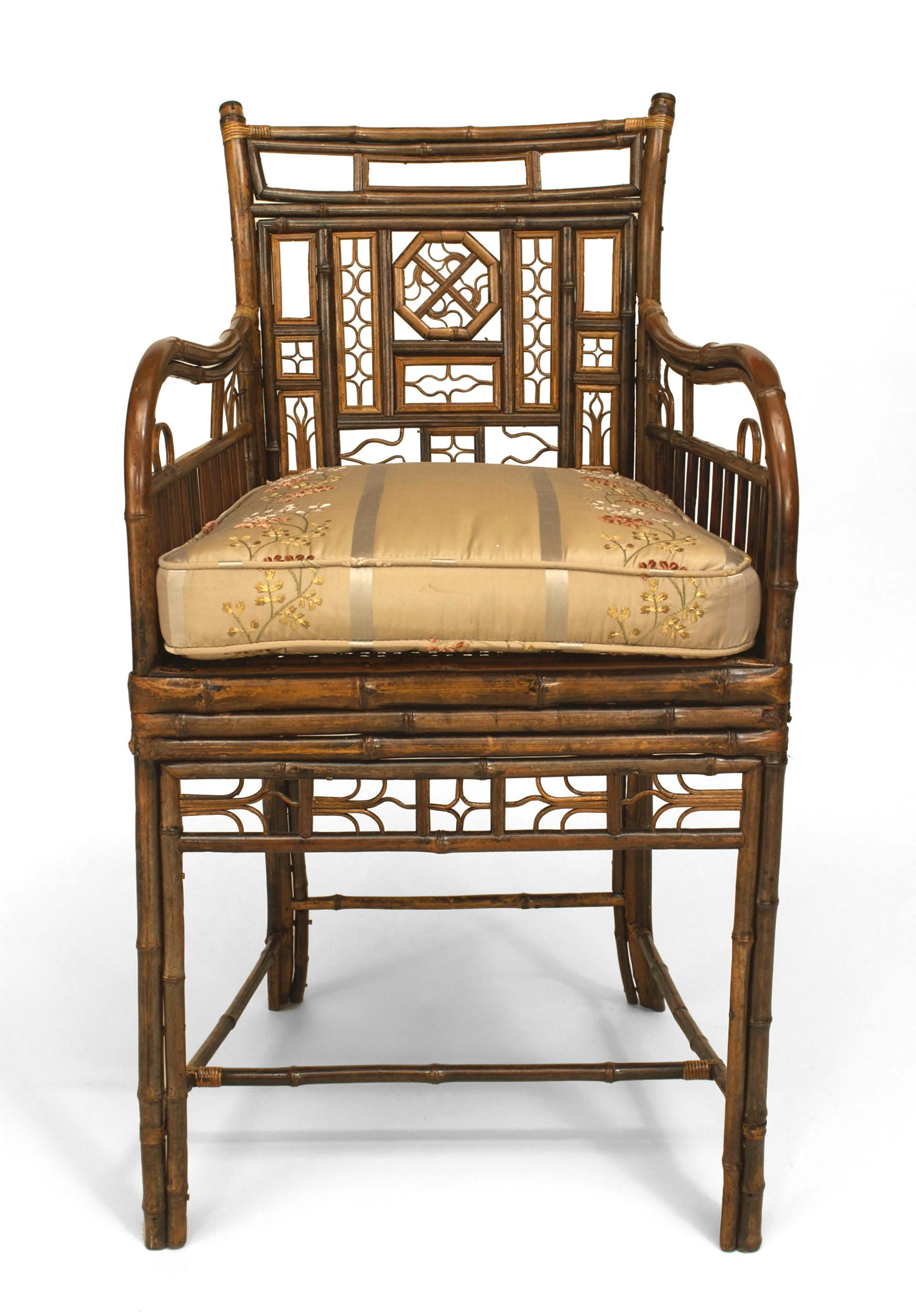 English Regency Brighton Design Bamboo Armchair In Good Condition For Sale  In New