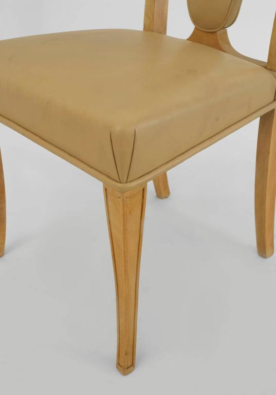 Mid-20th Century Set of Eight English Art Deco Maple High Back Dining Chairs by S. Hille & Co. For Sale