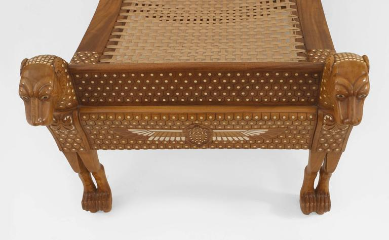 English Egyptian Revival Style Walnut Daybed/Recamier 6