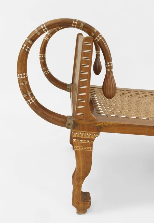 English Egyptian Revival Style Walnut Daybed/Recamier 10