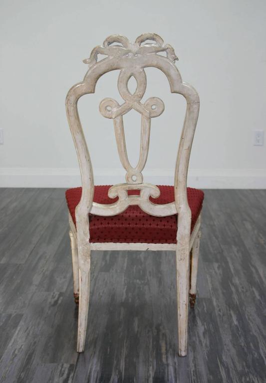 Beautiful Set of Ten 18th Century Italian Venetian Side Chairs For Sale 1