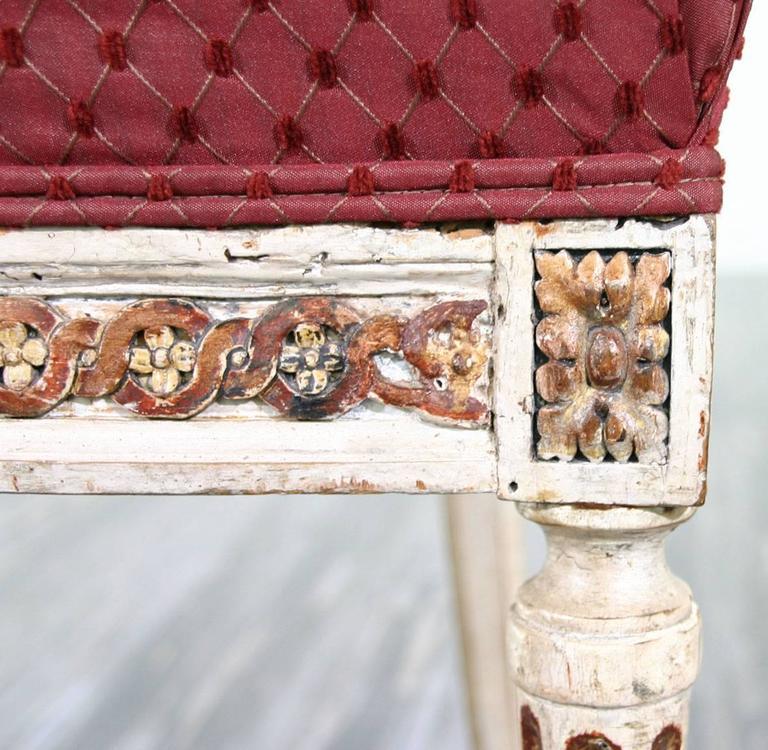 Beautiful Set of Ten 18th Century Italian Venetian Side Chairs For Sale 4