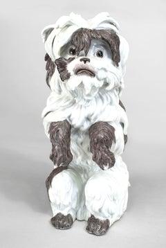 19th c. German Dog Sculpture, by Meissen