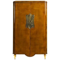 French Mid-Century Lacquered Armoire, by Andre Arbus & Gilbert Poillerat
