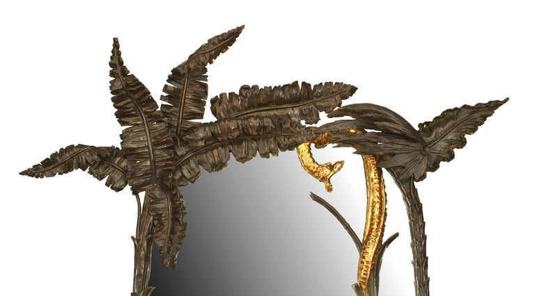 Napoleon III Unusual 19th c. French Gilt Carved Cheval Mirror For Sale