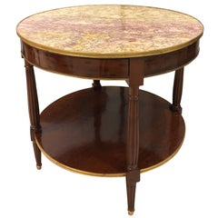 French Mahogany Gueridon Table by Escalier de Cristal