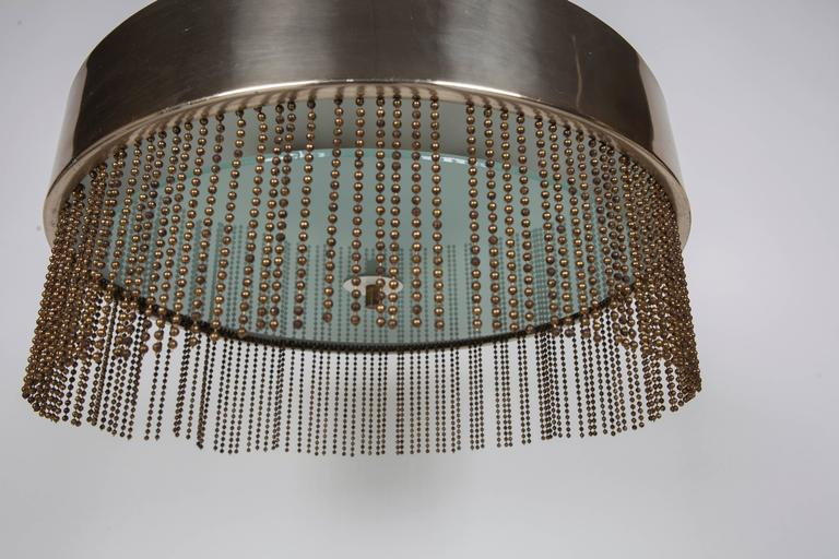 1970s Brass Chandelier With Beading By Pierre Cardin At