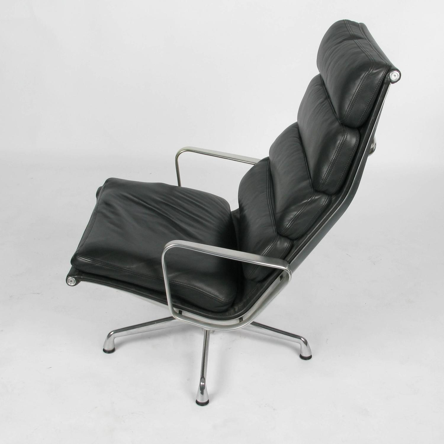 eames soft pad lounge chair and ottoman at 1stdibs