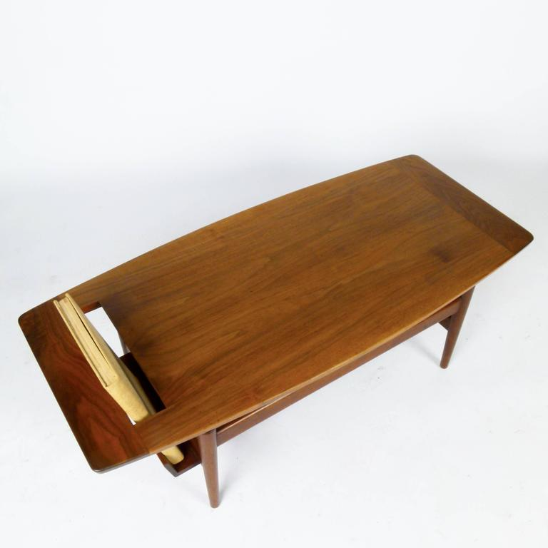 Rare jens risom coffee table with magazine rack for sale for 13 a table magasin