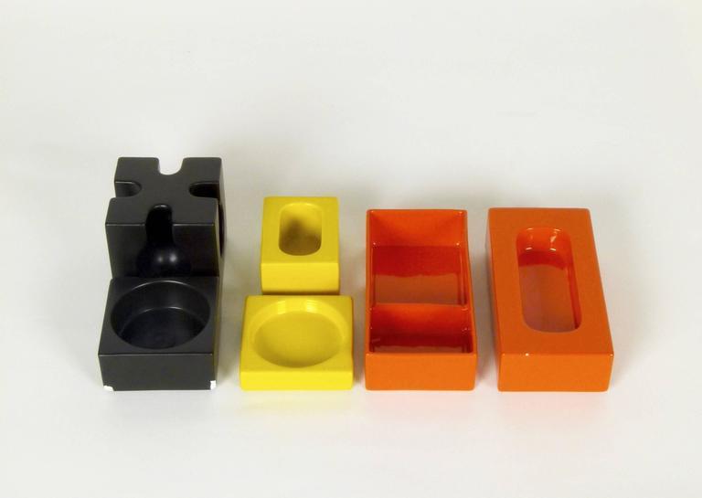 Six-Piece Ceramic Desk Set by Pierre Cardin 2