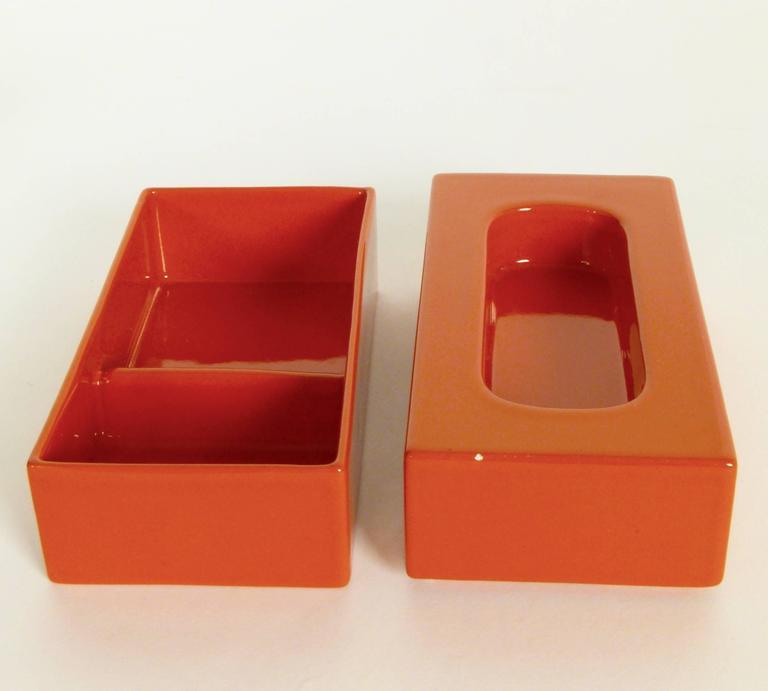 Six-Piece Ceramic Desk Set by Pierre Cardin 3