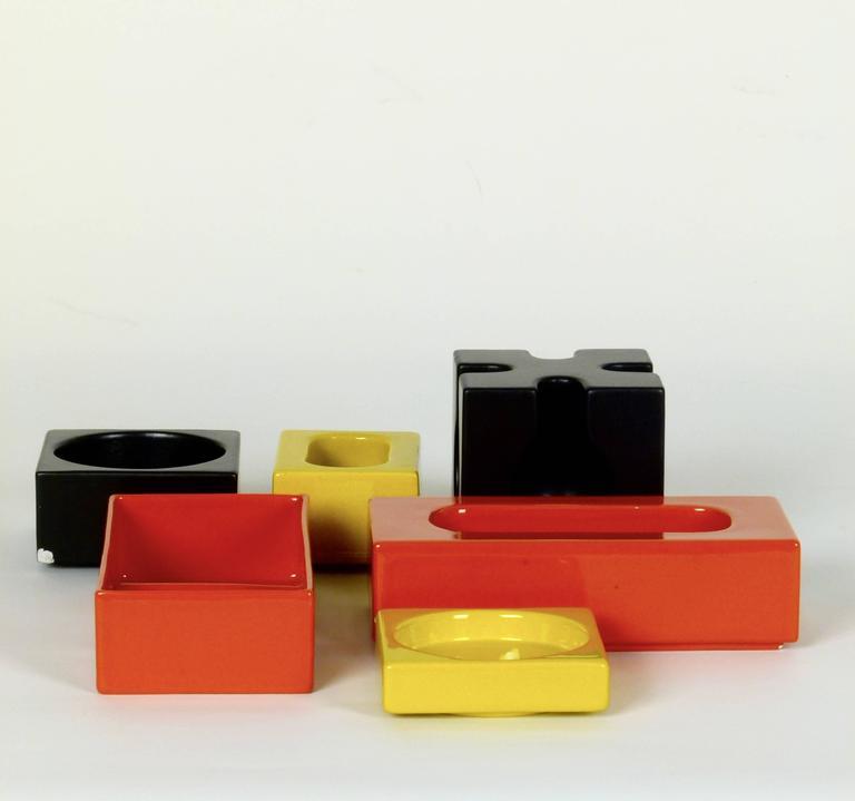 Six-Piece Ceramic Desk Set by Pierre Cardin 6
