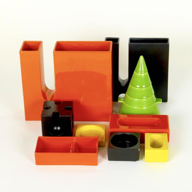 Six-Piece Ceramic Desk Set by Pierre Cardin 10