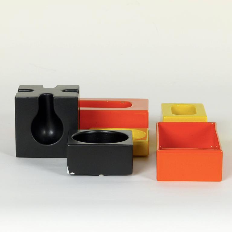 Six-Piece Ceramic Desk Set by Pierre Cardin 7
