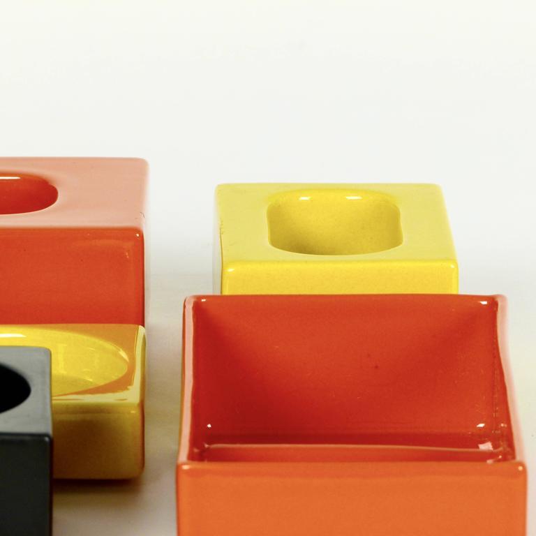 Six-Piece Ceramic Desk Set by Pierre Cardin 9