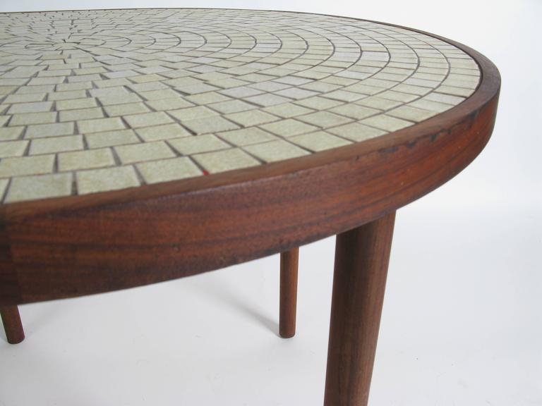 walnut and ceramic tile dining table by gordon martz at