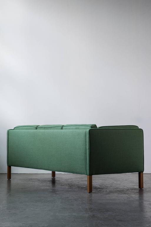 Børge Mogensen Sofa 2443 in Emerald Wool with Contrast Welt 2