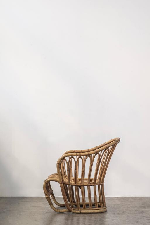 Rare Tove Kindt-Larsen Bamboo Rattan Easy Chair 2