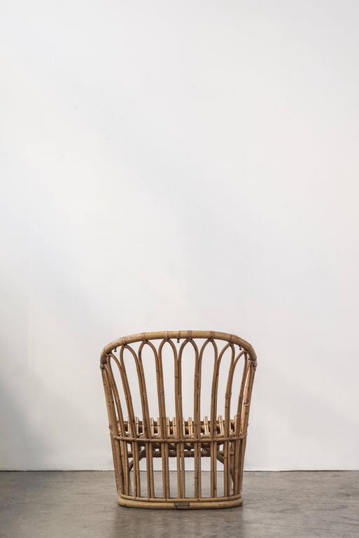 Rare Tove Kindt-Larsen Bamboo Rattan Easy Chair 3