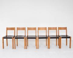 "Pierre Chapo ""S24"" Dining Chairs"
