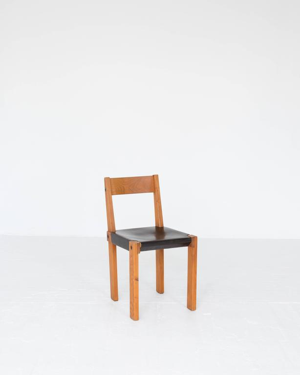 "Pierre Chapo ""S24"" Dining Chairs 2"