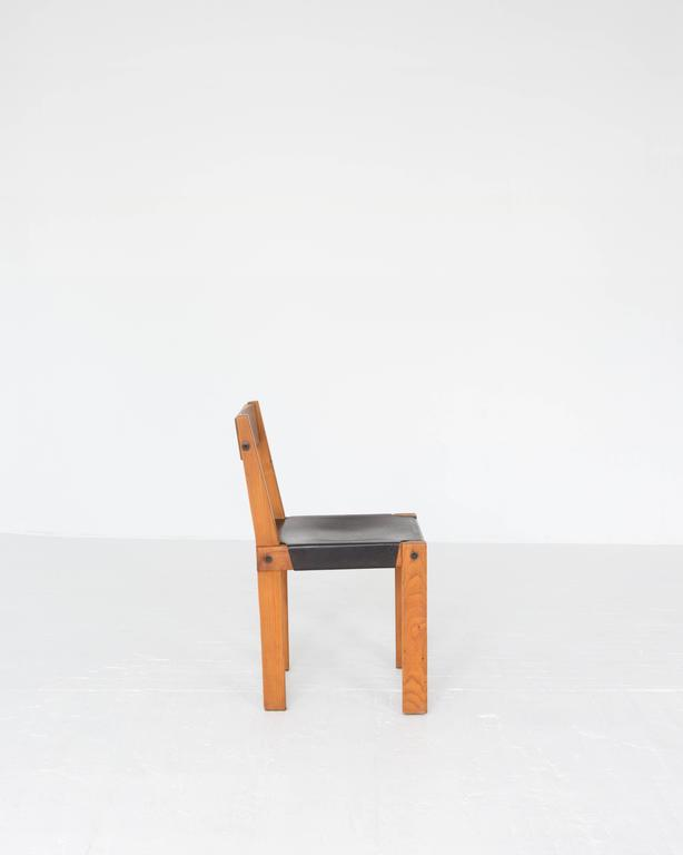 """French Pierre Chapo """"S24"""" Dining Chairs For Sale"""