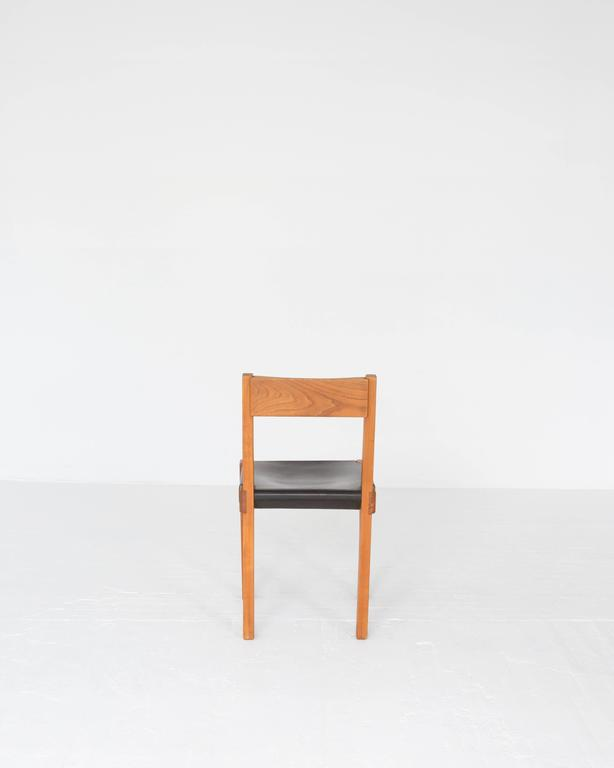 """Mid-Century Modern Pierre Chapo """"S24"""" Dining Chairs For Sale"""