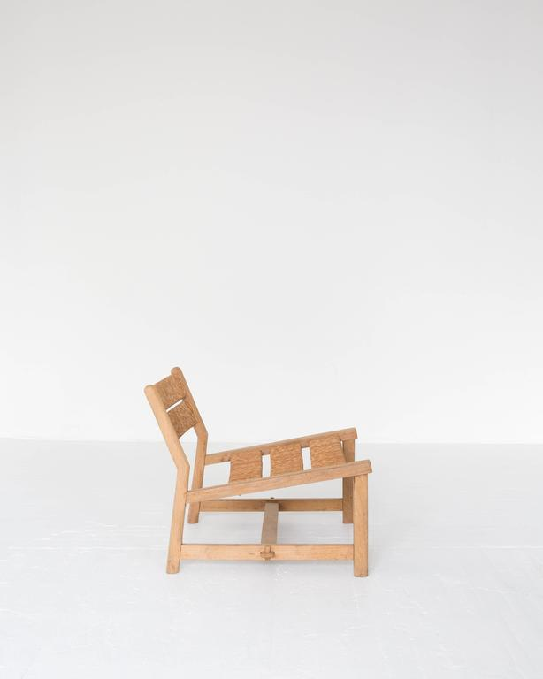 """A rare first edition of the rush weekend chair by Pierre Gautier-Delaye as displayed at the """"The Salon of Decorative artist"""" in 1954.   Gautier-Delaye won the """"Prix René Gabriel"""" for the chair in 1956. Offered by ASH NYC."""