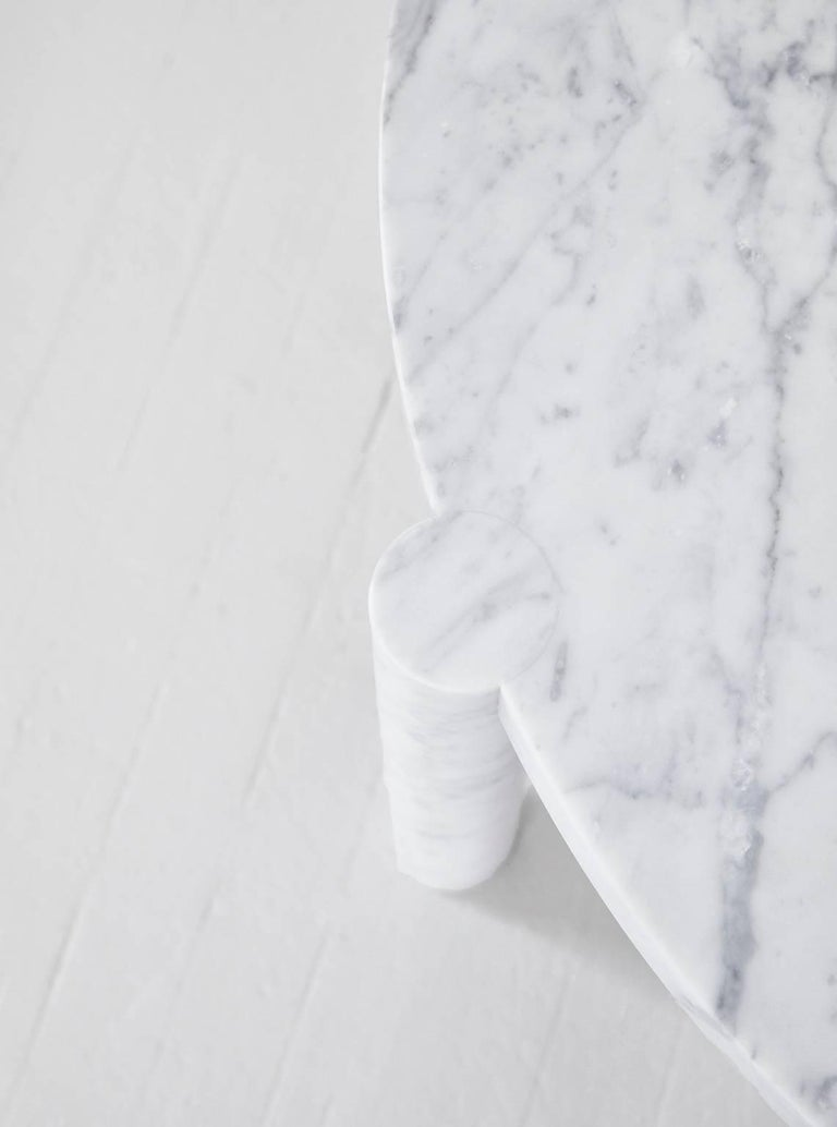 WC1 Cocktail Table by ASH NYC in Carrara Marble 3