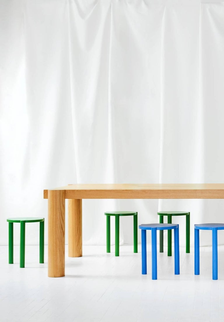 American WC3 Stool by ASH NYC in Blue For Sale