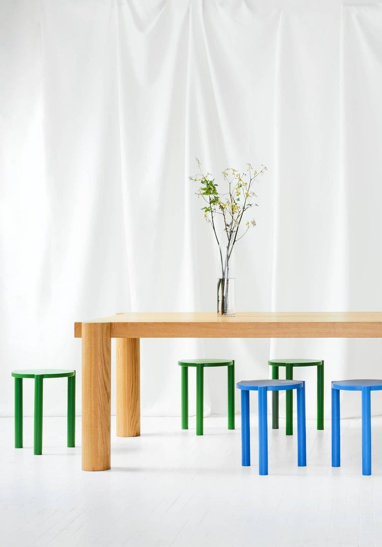 Lacquered WC3 Stool by ASH NYC in Blue For Sale