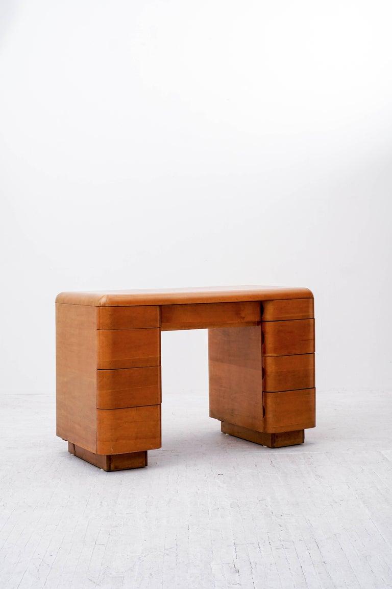 Mid-Century Modern Paul Goldman Maple Desk For Sale