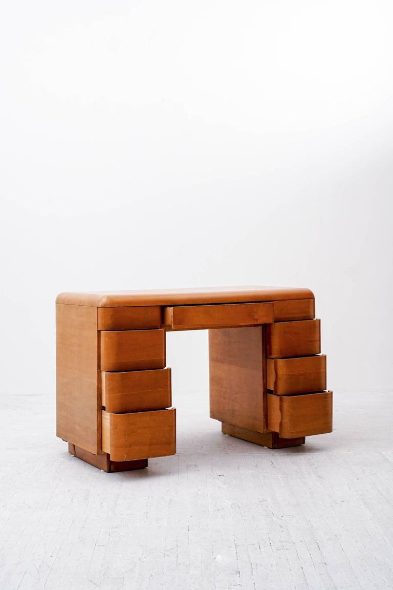 American Paul Goldman Maple Desk For Sale