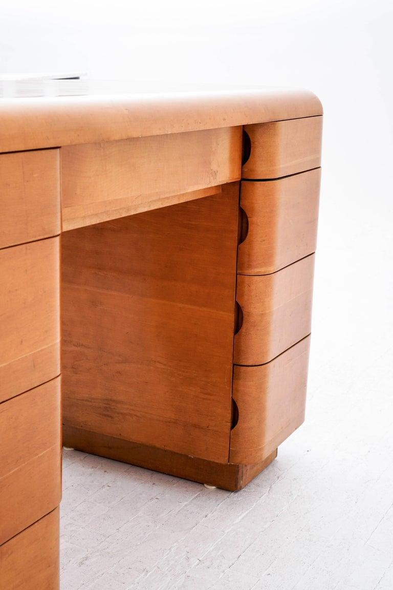 Mid-20th Century Paul Goldman Maple Desk For Sale