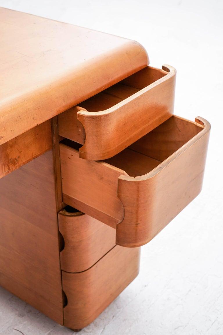 Paul Goldman Maple Desk For Sale 1