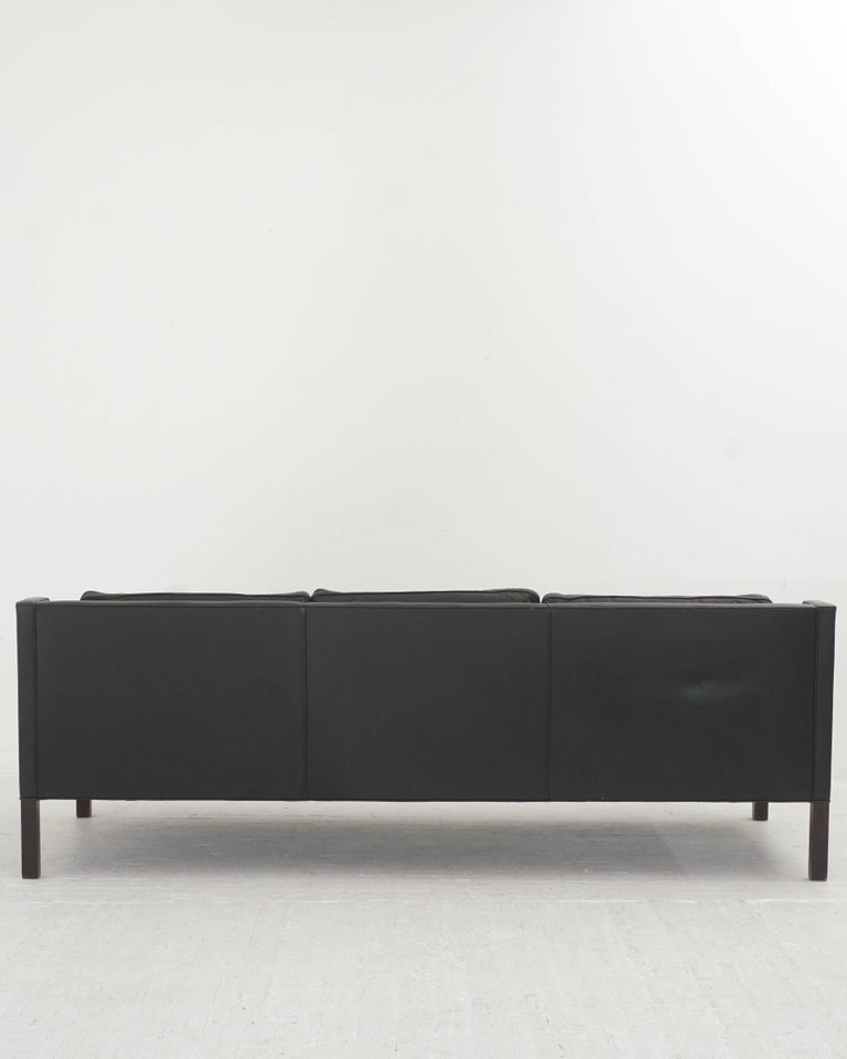 Leather Børge Mogensen Three-Seat Sofa 3