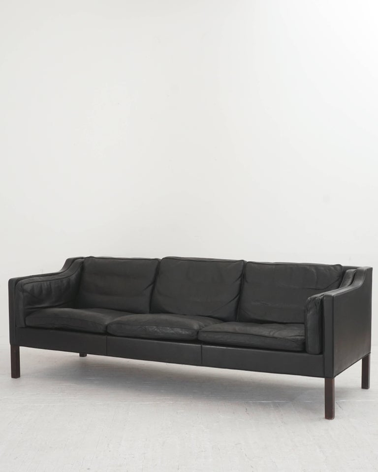 Leather Børge Mogensen Three-Seat Sofa 4