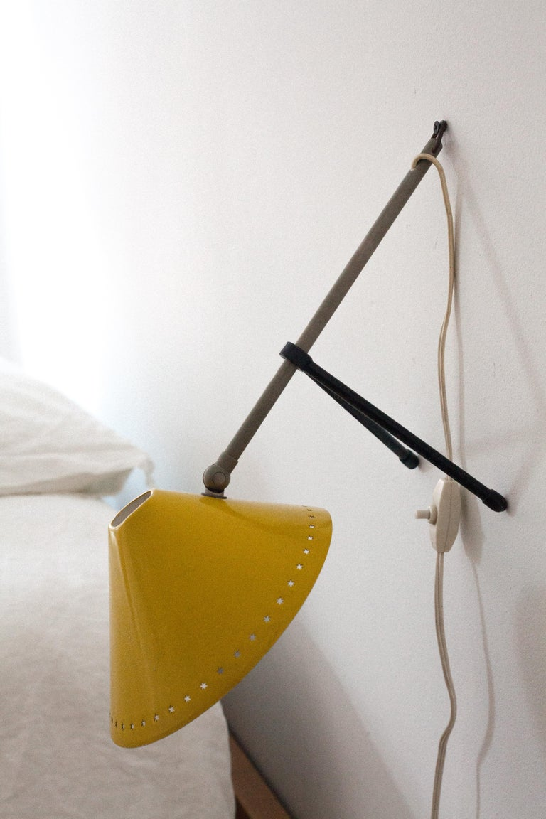 Metal Pinocchio Table Lap or Wall Sconce for Hala Zeist For Sale