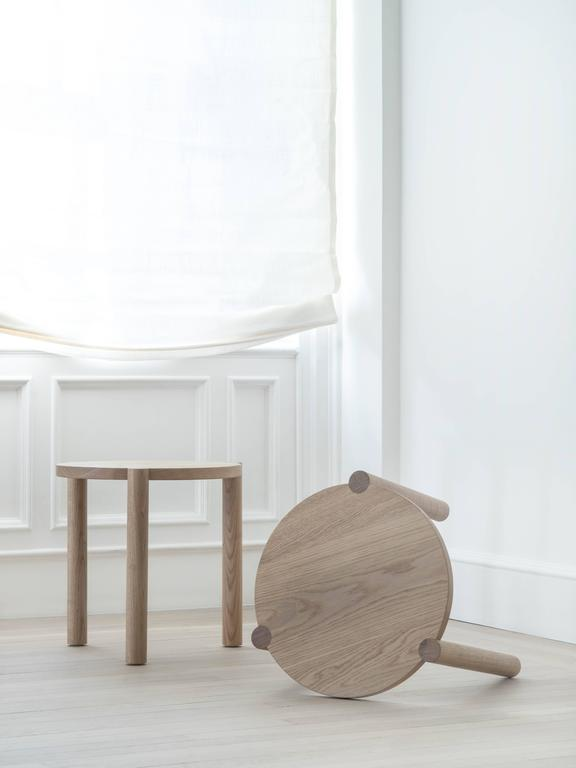WC4 Side Table by ASH NYC in White Oak  4