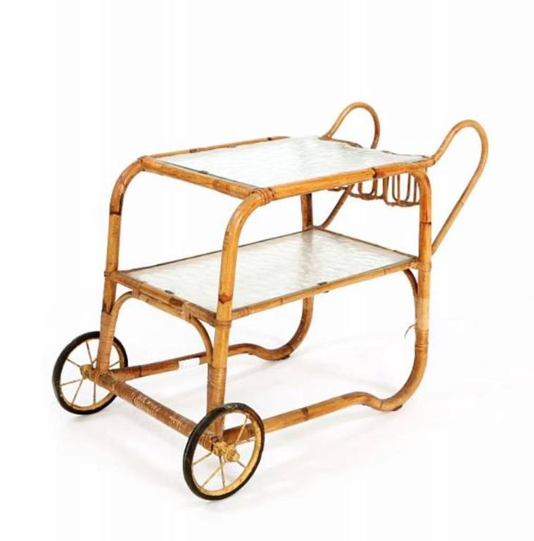 Viggo Boesen Bamboo Bar Cart 7