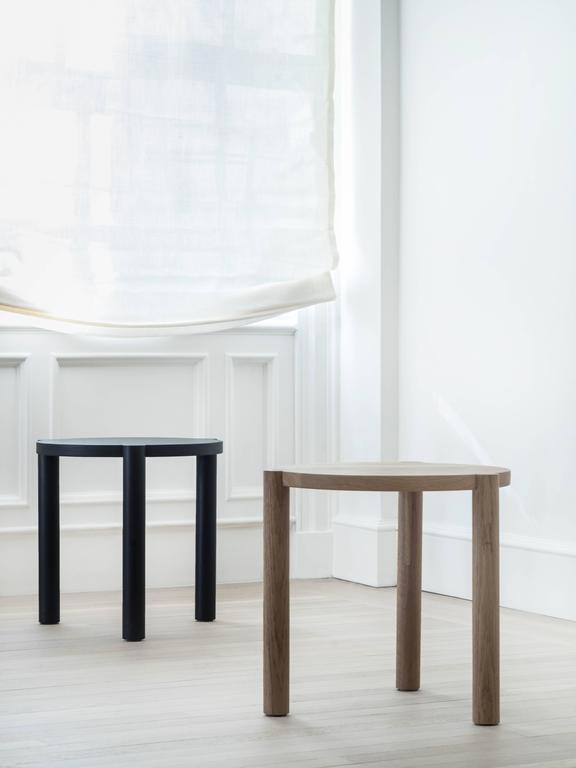 The WC4 by ASH NYC is a handsome side table with a low and sturdy stance. The hand-turned legs join seamlessly with the seat to create an elegant, handcrafted joint that defies gravity.    An exercise in minimalist design, the hidden joints allow