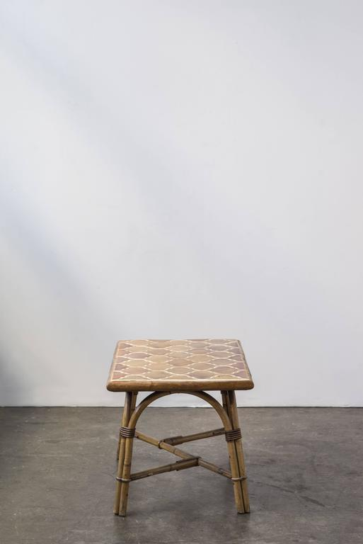 Bamboo Ceramic Table by Adrien Audoux and Frida Minet 2