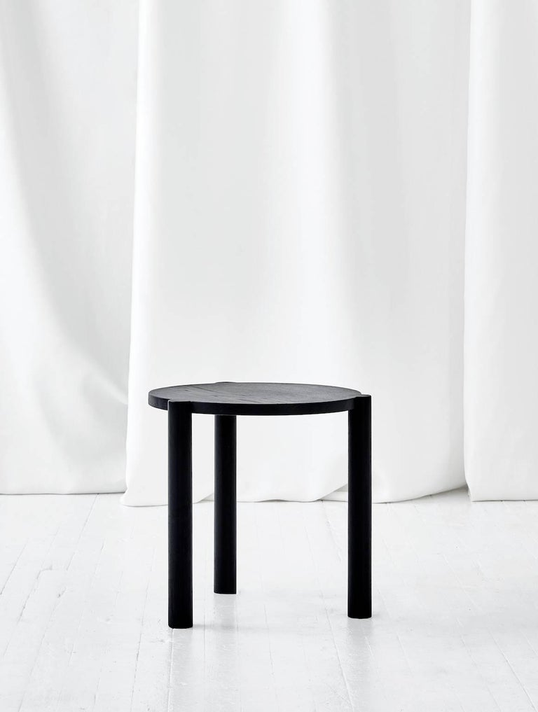 WC4 Side Table by ASH NYC in Black Oak 2