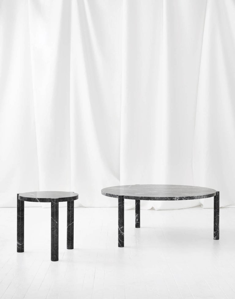 WC4 Side Table by ASH NYC in Grigio Carnico Marble 3