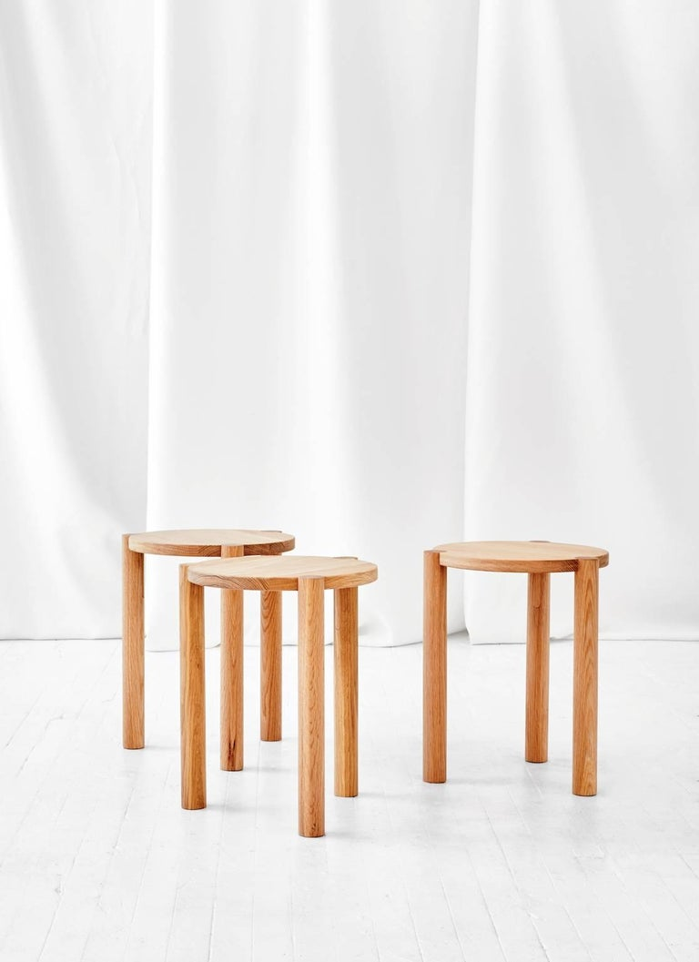 WC3 Stool by ASH NYC in White Oak 2