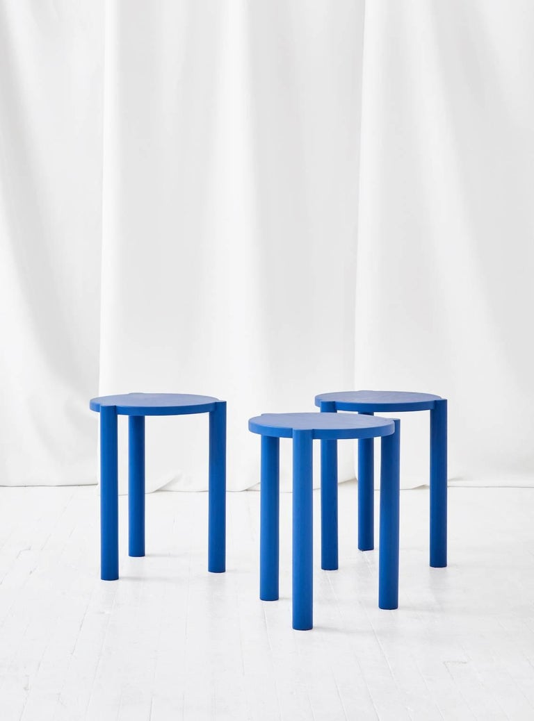 The WC3 stool by ASH NYC is a playful stool. The hand-turned legs join seamlessly with the seat to create an elegant, handcrafted joint that defies gravity.    An exercise in Minimalist design, the hidden joints allow for the stool to function