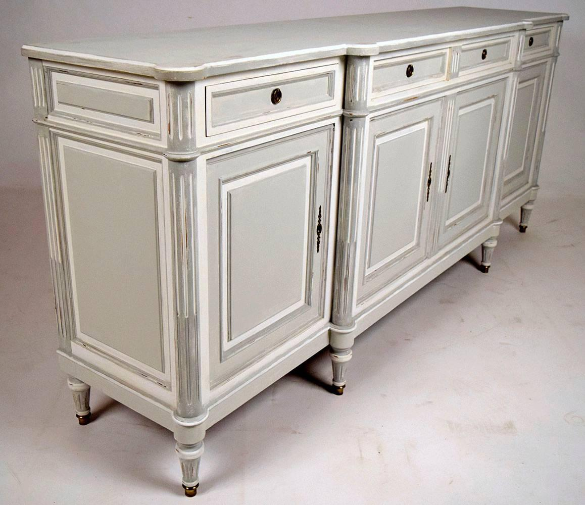 french louis xvi style painted buffet for sale at 1stdibs. Black Bedroom Furniture Sets. Home Design Ideas
