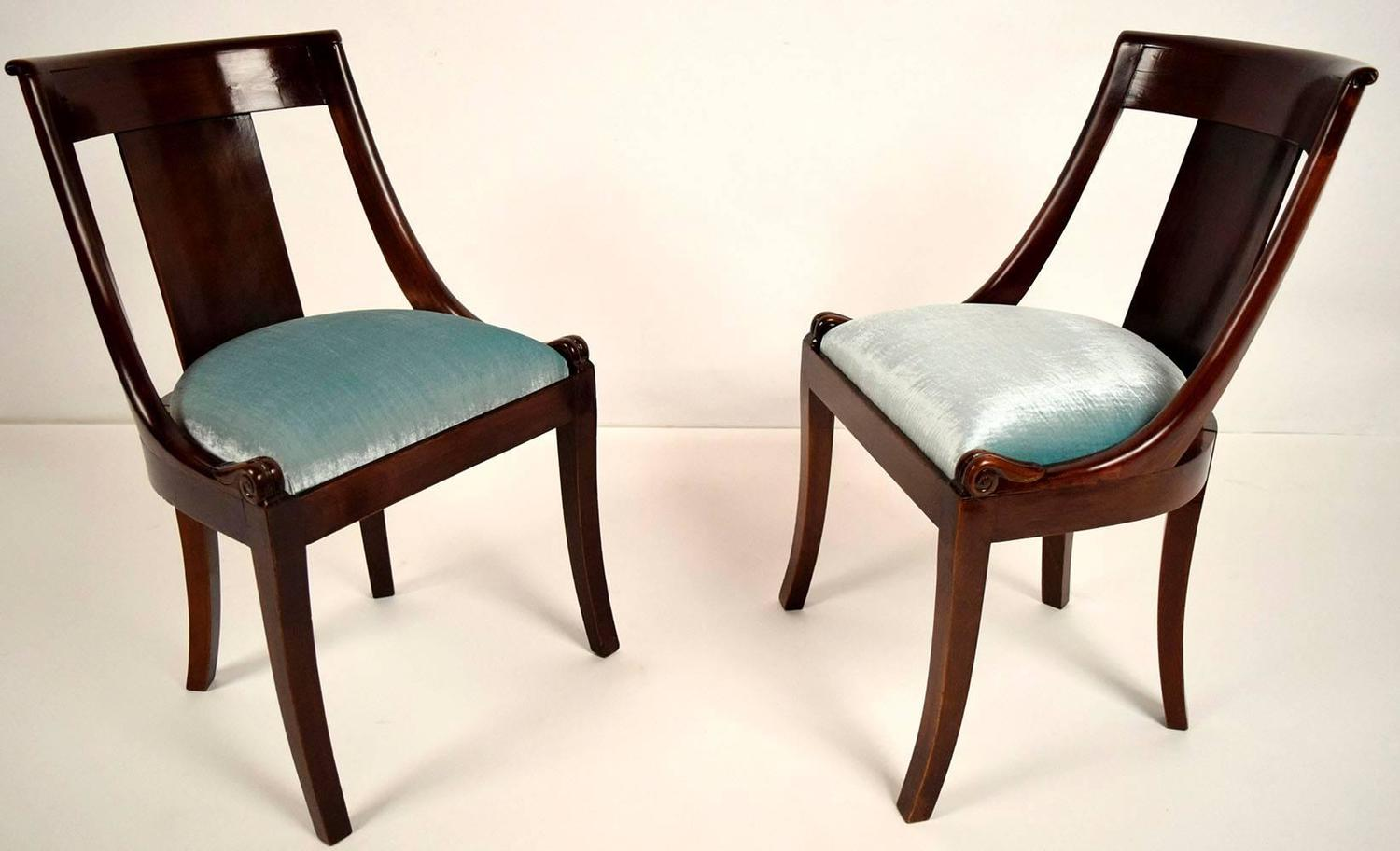 Set Of Six Antique French Empire Style Dining Chairs For Sale At 1stdibs