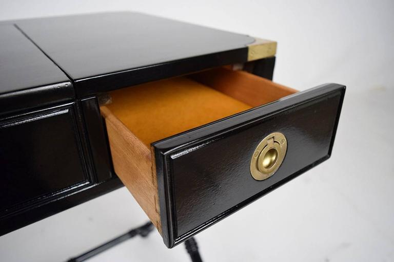 Campaign Style Dressing Table Or Vanity At 1stdibs
