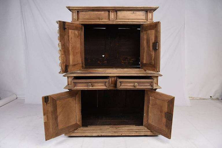 Early 19th Century French Bleached Wood Buffet For Sale 1